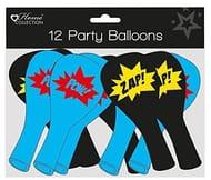 12 X Superhero Balloons