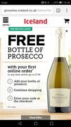 Free Bottle of Prosecco (With Purchase) Deal