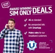 Amazing Sim Only Deal - 2.5GB, £7.50 per Month, Unlimited Minutes!