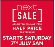 NEXT SALE - Continues Online & In-store