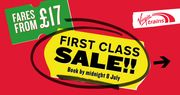 First Class Virgin Train Tickets from Only £17!!!