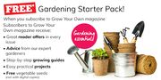 Free Gardening Starter Pack When You Subscribe to Grow Your Own Magazine