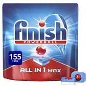 Finish Dishwasher Tablets, All in 1 Max (Pack of 5, Total 155 Tablets)