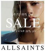 FROM TUESDAY 10TH JULY - AllSaints Sale 50% off - plus EXTRA 20% off