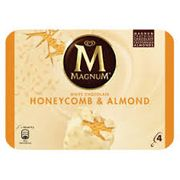 Magnum 4 White Chocolate, Honeycomb & Almond Ice Creams