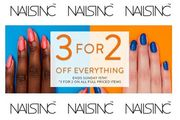 Lovely! 3 for 2! GREAT OFFER at NAILS INC. on ALL Full Priced Items!