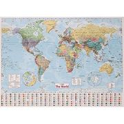 Collins World Wall Map - 40inch X 54inch