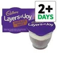 Cadbury Layers of Joy Chocolate Trifle Dessert 2 X 90g, 3 for £1