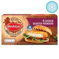 Birds Eye 4 Chicken Quarter Pounders 454G
