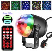 Disco Ball Party Light 6 Colors Sound Activated 2 in 1 Night Lamp (6 Colors)