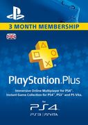 PlayStation Plus - 3 Month Subscription (UK) PS Plus
