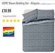 Argos Bargain - King Size Duvet Cover and 2 Pillowcases save £8