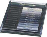 Faber-Castell PITT Artist Brush Pen Set of 12 Grey Colours