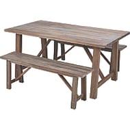 *HALF PRICE* Vintage 3 Piece Patio Table and Bench Set Free C&C