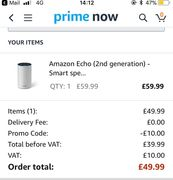 Echo - £10 Extra off in Primenow App 1st Time Customers