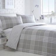 Home Collection Basics - Grey Checked 'Hugo' Bedding Set