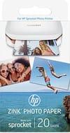 HP W4Z13A 2 X 3 Inch Sprocket Photo Paper, 20 Sheets