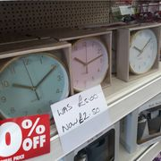 Clock Half Price at Poundworld
