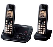 PANASONIC Cordless Phone with Answering Machine - Twin Handsets