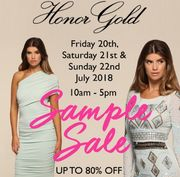 Honor Gold Sample Sale up to 80% Off