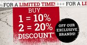EMP | 10% or 20% off Our Exclusive Brands