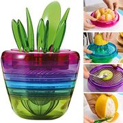 Paracity(TM) Fruit Salad Cutter Citrus Juicer Grinder Kitchen Gadget Flower Pot