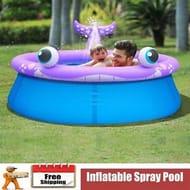 Jilong Inflatable Spray Pool Whale Shape Family Swimming