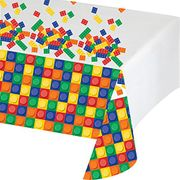 Creative Block Party Birthday Plastic Tablecover, 54 X 102 Inches 60p P&P