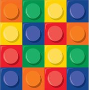 Building Block Party Napkins Pack of 16