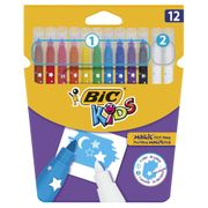 Bic Kids Colour and Erase Felt Pens 12pk Free C&C