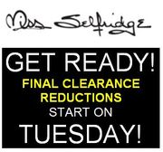 GET READY! Going Live Tuesday 24th - Final Clearance on Sale at MISS SELFRIDGE