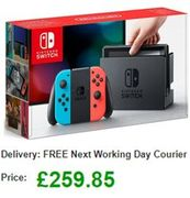 Cheap UK Price Nintendo Switch Console (Neon Red/Blue) £259.85 at Simply Games