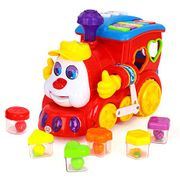 Early Education 2 Year Olds Baby Toy Intelligence Train with Music/Light/Block/