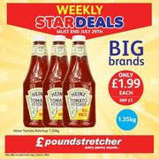 1.35kg Heinz Tomato Ketchup Only £1.99