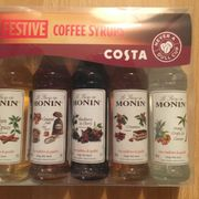 Costa Coffee Festive Moning Syrup Miniature Set 5x50ml