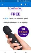 FREE Adult Toy worth £34.99...