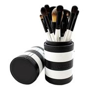 706 12 Piece Black and White Travel Brush Set Reduced from £10 to £1!