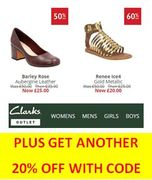 Clarks Outlet - up to 70% Off, plus an EXTRA 20% off with CODE