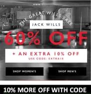 Jack Wills Sale - 60% +10% More off Code