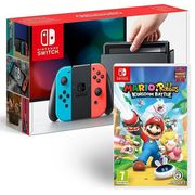 Nintendo Switch Console (Neon) with Mario & Rabbids Kingdom Battle Only £299.99