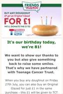 Buy a Krispy Kreme Doighnut & Get an Original Glazed Doughnut for £1