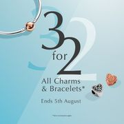3 for 2 on PANDORA Charms and Bracelets