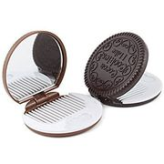 Cookie Shape Mirror and Comb
