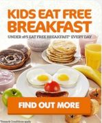 2 Kids Eat Free Breakfast with 1 Paying Adult