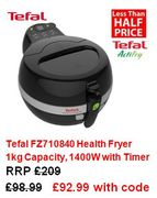 Tefal ActiFry FZ710840 CHEAPEST EVER PRICE £92.99. BETTER THAN HALF PRICE!