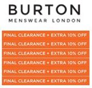 Burton Mens Clothing Sale FINAL CLEARANCE + EXTRA 10% OFF. BARGAINS HERE!