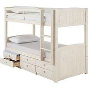 Kidspace Georgie Solid Pine Bunk Bed Frame with Storage