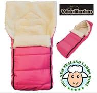Woolibaloo 100% Luxury New Zealand Lambswool Footmuff / Cocoon - Pink