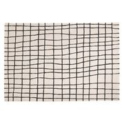 Large Black and White Rug 170 X 240cm