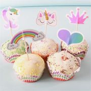 20 Unicorn Cake Toppers Free Del